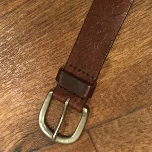 American Eagle Outfitters Accessories - American Eagle Belt Embossed Leather Brown